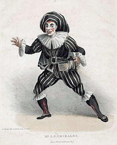 J. S. Grimaldi como Scaramouche (1815) de Charles Chabot